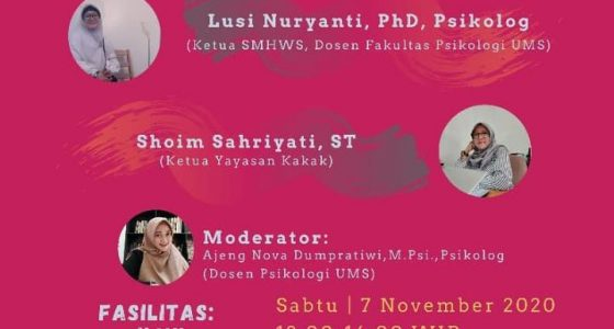 Biro Kemahasiswaan Psikologi UMS Gelar Seminar Student Mental Health and Well-being Support